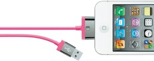 30-pin charge and sync cable, 2m, iphone, 2,1 Amp, pink