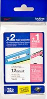 TZE32M3 Value Pack, TZ-tejp (2xTZE-231,  1xTZE-MQP35-tape 12 mm, rosa matt tape med vit text)