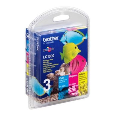 Brother Tinte LC-1000 Rainbow C/Y/M