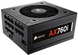 Corsair AX 760i, 760W PSU Digital ATX, 80 PLUS® Platinum Certified,  Fully-Modular PSU (CP-9020036-EU)