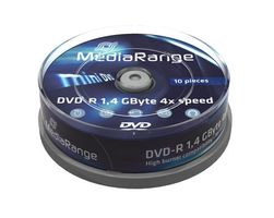 DVD-R MediaRange mini 10pcs Sp