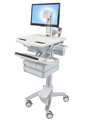 STYLEVIEW CART WITH LCD PIVOT 4 DRAWERS