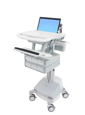 STYLEVIEW LAPTOP CART SLA POWERED 6 DRAWERS EU