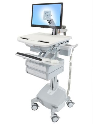 STYLEVIEW CART WITH LCD ARM LIFE POWERED 2 DRAWERS EU SAU-EU