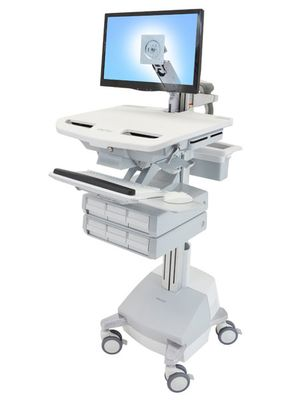 STYLEVIEW CART WITH LCD ARM SLA POWERED 6 DRAWERS EU