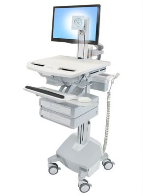 STYLEVIEW CART WITH LCD PIVOT LIFE POWERED 2 DRAWERS EU SAU-EU