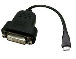 adapterkabel,  mini HDMI till DVI-D adapter, 0,19m, svart