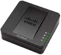 CISCO SPA122 ATA with Router Telefonadapter med innebygd router, VoIP, 10/100 Mbps, to porter for analoge telefoner,  1xRJ45 for LAN, 1xRJ45 for WAN, svart (SPA122)