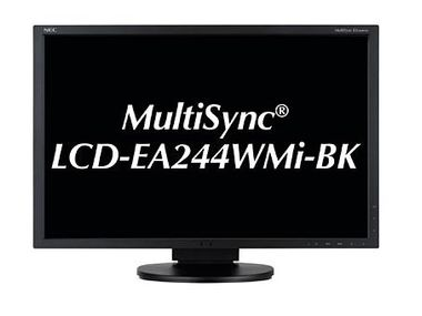 "NEC 24"" LED EA244WMi Black 1920x1200,  IPS, 5ms, 25000:1, DVI/ HDMI/ DP"