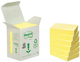 Yellow Block (653-1B) 100% Recycled Papper 6-Pack (6531B)