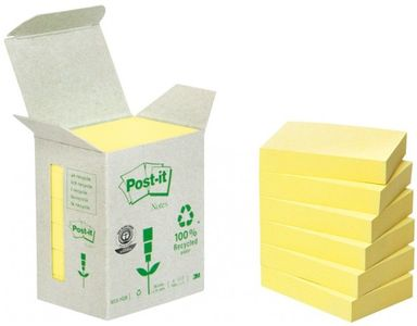 Yellow Block (653-1B) 100% Recycled Papper 6-Pack