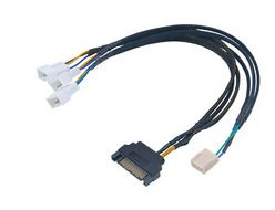 FLEXA FP3S PWM Splitter 4-pin 3x PWM fans, SATA power, 30cm