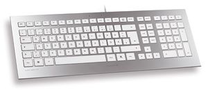 CHERRY TAS STRAIT Corded Keyboard weiß/ silber SPAIN (JK-0300ES)