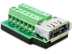 Adapter Terminalblock 14pin -> eSATApd/ USB2