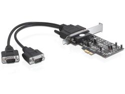 PCI Expr Card 2x D-Sub9 RS-422/ 485 ext (Kab