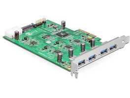PCI Expr Card 4x USB3.0 ext (Strom -> Molex