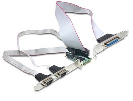 Mini PCI Expr Card 2x D-Sub9 ext + 1x D-Sub