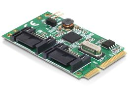Mini PCI Expr Card 2x SATA III 6Gb/s int +