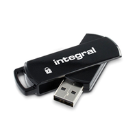 4GB 360 Secure USB Stick 256-bit AES Black
