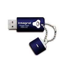 32GB Crypto Dual 197 USB Stick 256-bit AES Blue