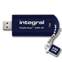 INTEGRAL 64GB Crypto Dual+ 197 USB Stick 256-bit AES Blue