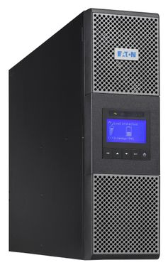9PX 6000i On-Line Tower UPS with Bypass Switch 230 V 6000VA / 5400 W 3 min (8,5 min @50%). Input hardwired 230 V AC.  Output: 3x 10 A IEC C13 + 2x 16A IEC C19 or hardwired 230V AC. Max 12 x EBM