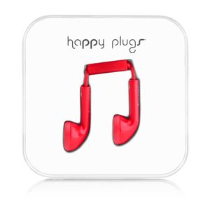 HAPPY PLUGS - Headset ( ear-bud - rød