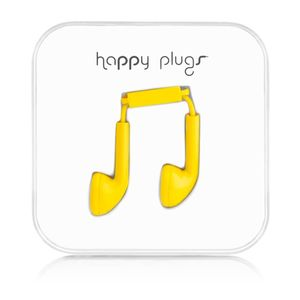 HAPPY PLUGS - Headset ( ear-bud - gul