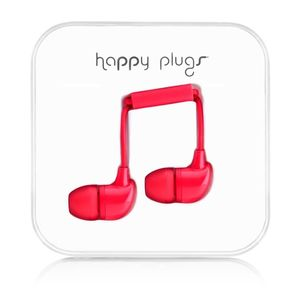 HAPPY PLUGS In-Ear Red m/mic 3,5mm