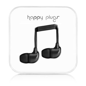 HAPPY PLUGS In-Ear Black m/mic 3,5mm