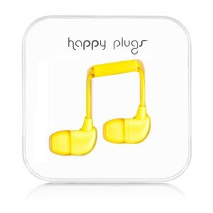 HAPPY PLUGS In-Ear Yellow m/mic 3,5mm