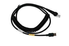 "DELTACO Honeywel USB cable type-A black coiled 3M(9,8"") 5V host power (CBL-500-300-C00)"