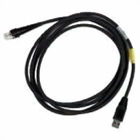 USB-cable,  straight, black