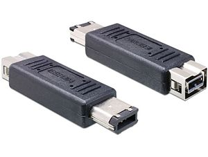 DELOCK FireWire-Adapter FW400 6pin -> FW800 9pin S (65387)