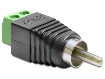 DELOCK Adapter Terminalblock 2pin -> Cinch St (65417)