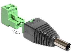 Adapter Terminalblock 2pin -> DC 2,1 x 5,5m