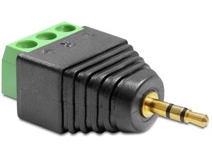 DELOCK Adapter Terminalblock 3pin -> 2,5mm stereo  (65420)