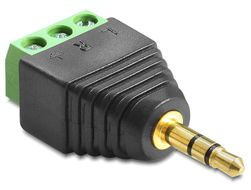 DELOCK Adapter Terminalblock 3pin -> 3,5mm stereo  (65419)
