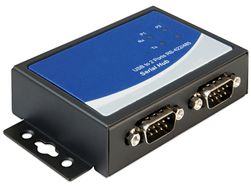 USB Adapter USB -> 2x D-Sub9 (RS422/ 485) Bu