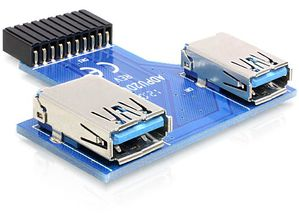USB Adapter USB Pinheader -> 2x USB3.0 A ne