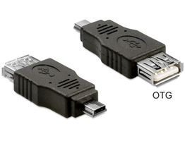 DELOCK USB Adapter USB A -> mini B Bu/St OTG (65399)
