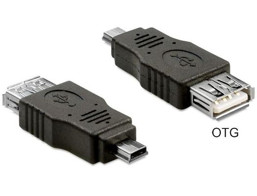 USB Adapter USB A -> mini B Bu/St OTG