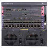 Hewlett Packard Enterprise 7503 Switch with 48-port Gig-T PoE+ Module and 384Gbps MPU with 2 XFP ports