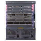 Hewlett Packard Enterprise 7506 Switch with 2 48-port Gig-T PoE+ Modules and 384Gbps MPU with 2 XFP ports