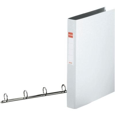 ESSELTE ringbinder,  PP A4 4-rings 25 mm white