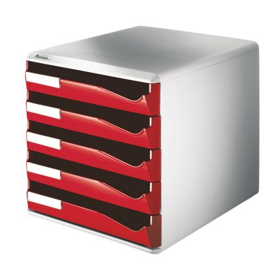 LEITZ post-set 5 drawers red