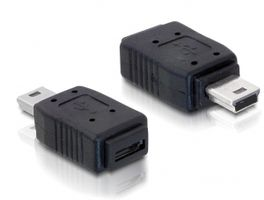 Kabel Adapter USB mini-St.>USB micro A+B-Bu