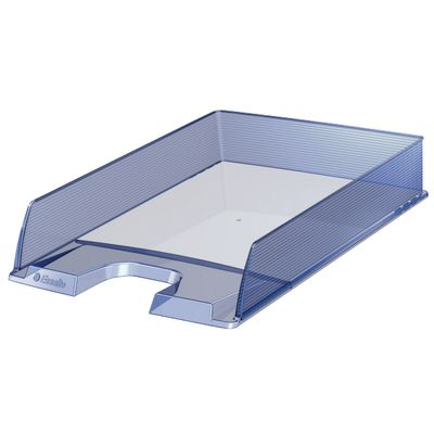 Letter tray Esselte Europost translucent light blue ** NEW **