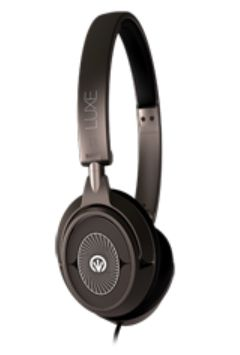 IFROGZ LUXE HEADPHONES WITH MIC GUNMETAL