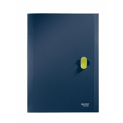 DIVIDER BOOK LEITZ RECYCLE DARK BLEU 5 TABS